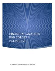 Financial Analysis for COLGATE-PALMOLIVE (MGB CMM45).docx