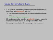 Case22-1 (A Smoker's Fate)