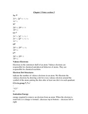 chem1010 Chapter 3 Notes section 2