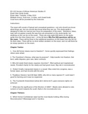ES 223 Study Guide first Exam
