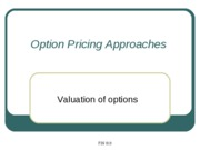 7 Valuation of options