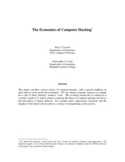 Economics of computer hacking