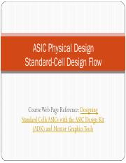 L23_ASIC Layout_2 Standard Cell Flow