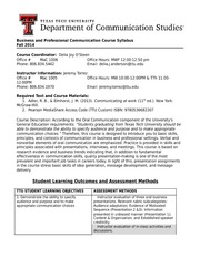 B&P Master Syllabus Fall 2014