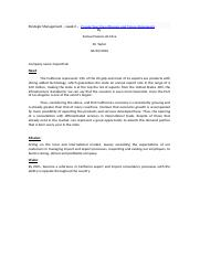 Strategic Management -week 2 create a company.docx