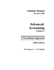 Advanced Accounting-Volume 2