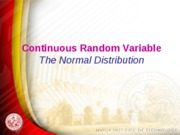 Lesson 8 Normal Distribution