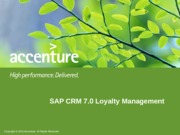 SAP CRM Loyalty Management Overview