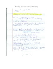 Microbiology –Class Notes- Golden Age of Microbiology