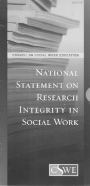 National Statement on Research Integrity in Social Work