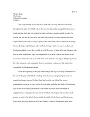 Othello Test Essay