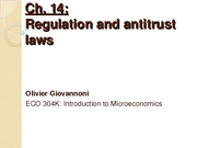 Ch 14 - Regulation and antitrust laws