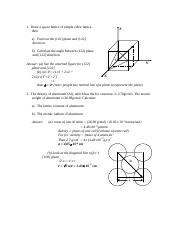 4 - Structure of metals homework solutions