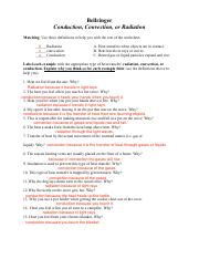 HeatTransfer.pdf - Bellringer Conduction Convection or ...