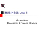 Corporations - Organization and Financial Structure