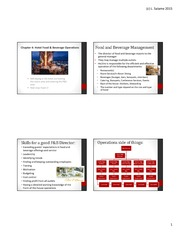 Hotel Food and Beverage Slides