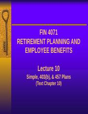 Lecture 10 - SIMPLEs, 403b, 457 Plans (1).pptx