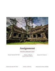 Assignment 2 for AGE 1501 855832 Pseudo-archaeology.pdf