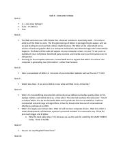 Unit 4 - Instructor Online Notes