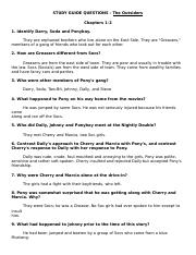 Outsiders Study QuestionsALL chapter ANSWERS (1)