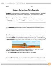 platetectonicsgizmotimothyleitinger plate tectonics answers italic rh coursehero com plate tectonics earthquakes and volcanoes study guide answer key 7.2 Study Guide