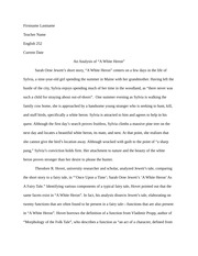 white heron essay an analysis of a white heron sarah orne   a white heron sarah o w04h3analysis 3 pages w04h1analysis