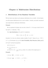 04. Multivariate Distributions