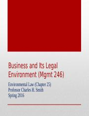 Mgmt 246--Sp16 Environmental Law-3.ppt