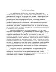 Self Reliance Essay.pdf