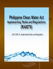 RA9275 Clean Water Act.ppt