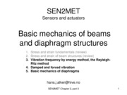 Basic mechanics of beam and diaphragm structures part 2
