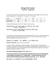 Tutorial 3 assignment TA