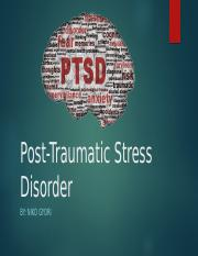 Post-Traumatic Stress Disorder [Autosaved].pptx