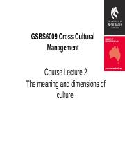 GSBS6009 CCmanagement Lecture 2