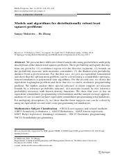 Models and algorithms for distributionally robust least