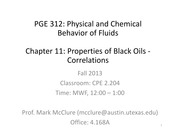 PGE312 CHAPTER 11 LECTURE