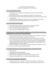Psych 10 Final Exam Study Guide
