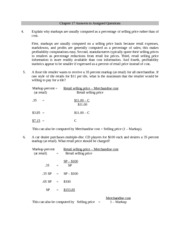 BSAD 432 - Chapter 17 Answers to Assigned Questions