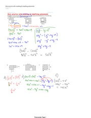Modeling and Simplifying Polynomials