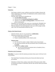 Intro to Am. Gov Chapter 3 – Notes