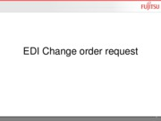 EDI Change order request