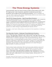 The Three Energy Systems - ATP PC, Glycolytic, oxidative.docx