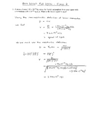 Exam 2 Solution Spring 2006 on Physics 1 Honors with Mechanics