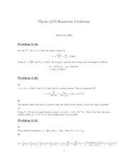 PHYS 2170 HW 8 Solutions