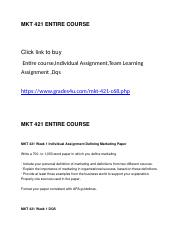MKT 421 ENTIRE COURSE.docx