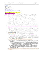 Lushing F05 Evidence - Class Notes