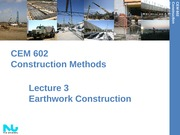 Lecture 3- Planning Earthwork Construction