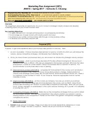 Marketing Proposal and Final Plan Assignment - Handout.pdf