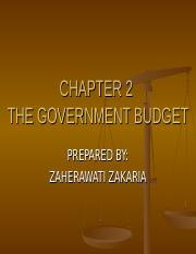CHAPTER 2The Government Budget