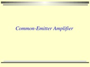 lesson 9  2010 Common emitter amplifier with activities